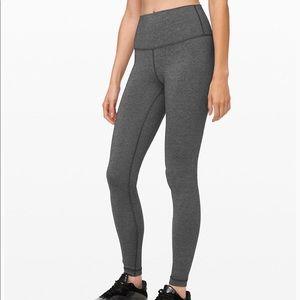 LULULEMO Pants Wee Stripe Black Heathered Black